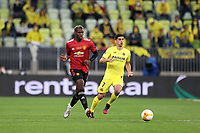 26th May 2021; STADION GDANSK  GDANSK, POLAND; UEFA EUROPA LEAGUE FINAL, Villarreal CF versus Manchester United:  Manchester United's PAUL POGBA  challenged by GERARD MORENO