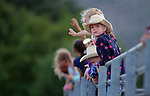 Kids watch the action at the Smackdown Tour Bull Riding event at Fuji Park in Carson City, Nev., on Saturday, June 7, 2014.<br /> Photo by Cathleen Allison
