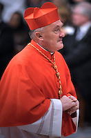 New cardinal Kazimierz Nycz of Poland, who is one of the 24 new cardinals installed by Pope Benedict XVI (not pictured) during the Consistory ceremony in Saint Peter's Basilica at the Vatican, 20 November 2010. Reports state that Pope Benedict XVI installed 24 new Roman Catholic cardinals from around the world on 20 November 2010 in his latest batch of appointments that could include his successor as leader of the 1.2 billion member church