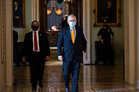 United States Senate Majority Leader Mitch McConnell (Republican of Kentucky) walks to his office at the United States Capitol in Washington D.C., U.S. on Thursday, May 21, 2020. Credit: Stefani Reynolds / CNP/AdMedia