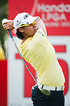 CHON BURI, THAILAND - FEBRUARY 16:  Yani Tseng of Taiwan tees off on the 15th hole during day one of the LPGA Thailand at Siam Country Club on February 16, 2012 in Chon Buri, Thailand.  Photo by Victor Fraile / The Power of Sport Images