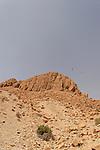 Israel, Judean desert. Mount Zeruya overlooking Ein Gedi and Nahal Arugot