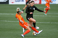 Portland, OR - Wednesday March 14, 2018: Rachel Daly, Lauren Kaskie during a National Women's Soccer League (NWSL) pre season match between the Houston Dash and the Chicago Red Stars at Merlo Field.