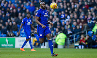 Sol Bamba of Cardiff City during the Sky Bet Championship match between Cardiff City and Middlesbrough at the Cardiff City Stadium, Cardiff, Wales on 17 February 2018. Photo by Mark Hawkins / PRiME Media Images.