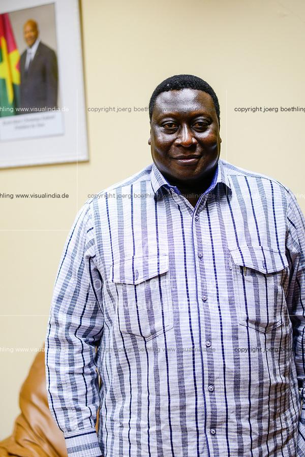 BURKINA FASO , Bobo Dioulasso, Société Burkinabè des Fibres Textiles SOFITEX cotton ginning and trading company, CEO Directeur Général (DG), YAMEOGO Wilfried Aimé Guillaume Sidbéwindé
