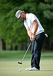 Ryan Moore on the green during the second round of the Quail Hollow Championship
