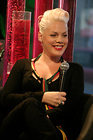 April 9 2006, Montreal (Qc) Canada<br /> PINK give an interview at a Music plus, a Montreal, CANADA TV station<br /> Photo : (c) 2005 Pierre Roussel
