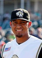 Ernesto Frieri - San Antonio Missions.2009 Texas League All-Star game held at Dr. Pepper Ballpark, Frisco, TX - 07/01/2009. The game was won by the North Division, 2-1..Photo by:  Bill Mitchell/Four Seam Images