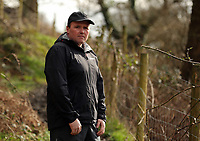 Pictured: Farmer Richard Williams in the path where the vicious attack took place in Tonna, Wales, UK.<br />