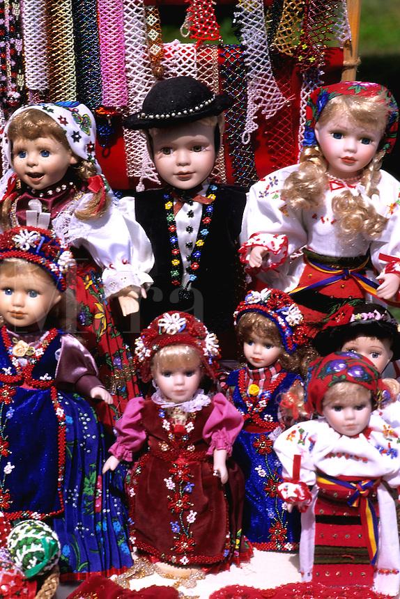 Romanian artwork dolls in costumes Sibiv Romania