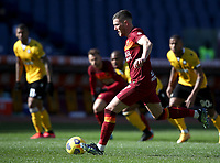 Football, Serie A: AS Roma -  Udinese, Olympic stadium, Rome, February 14, 2021. <br /> Roma's Jordan Veretout kicks a penalty and scores his second goal in the match during the Italian Serie A football match between Roma and Udinese at Rome's Olympic stadium, on February 14, 2021.  <br /> UPDATE IMAGES PRESS/Isabella Bonotto