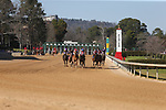 March 6, 2021: The start of the fifth race at Oaklawn Racing Casino Resort in Hot Springs, Arkansas. ©Justin Manning/Eclipse Sportswire/CSM