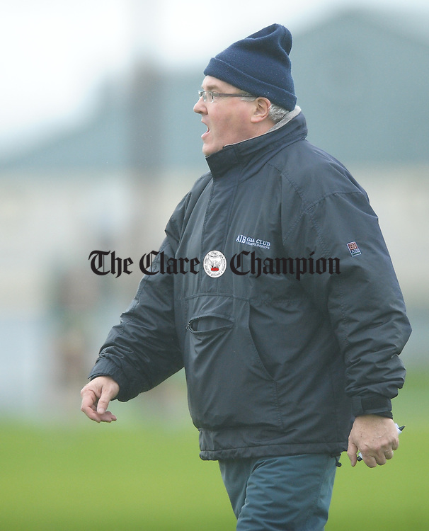 Ennistymon CBS team selector Michael Clohessy on the sideline during their Munster Colleges D hurling final win over Mercy Mounthawk of Tralee at Rathkeale. Photograph by John Kelly.