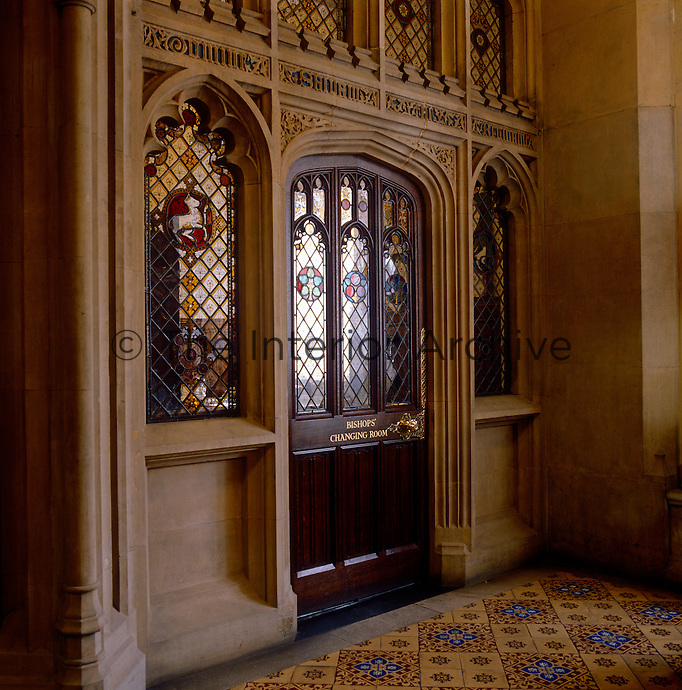 Entrance to the Bishops' Robing Room, where the bishops change into their vestments before entering the Chamber