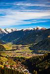 Italien, Suedtirol (Trentino - Alto Adige): Blick von der Furkelpass-Strasse auf Mitterolang und Niederrasen | Italy, South Tyrol ( Trentino - Alto Adige): view from Furkel Pass Road towards Valdaora and Rasun Anterselva, district Rasun di Sotto