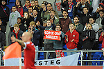 UEFA European Championship at Cardiff City Stadium - Wales v Cyprus :  Welsh football fans show their support.