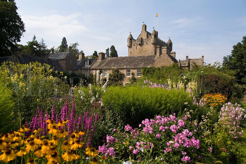 Beautiful gardens at the Cawdor Castle, Cawdor, Scotland