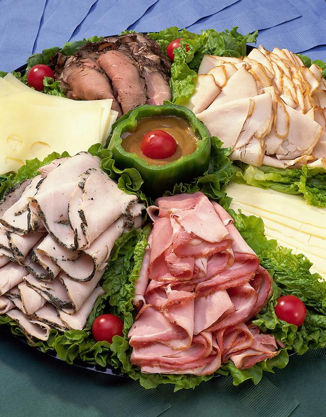 Deli Meat platter - Ham, Turkey, Roast Beef, Cheese.