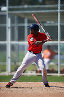 Boston Red Sox Josh Ockimey (18) bats during a minor league Spring Training game against the Baltimore Orioles on March 16, 2017 at the Buck O'Neil Baseball Complex in Sarasota, Florida. (Mike Janes/Four Seam Images)
