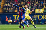 Lionel Andres Messi (l) of FC Barcelona competes for the ball with Jaume Vicent Costa Jordá of Villarreal CF during their La Liga match between Villarreal and FC Barcelona at the Estadio de la Cerámica on 08 January 2017 in Villarreal, Spain. Photo by Maria Jose Segovia Carmona / Power Sport Images