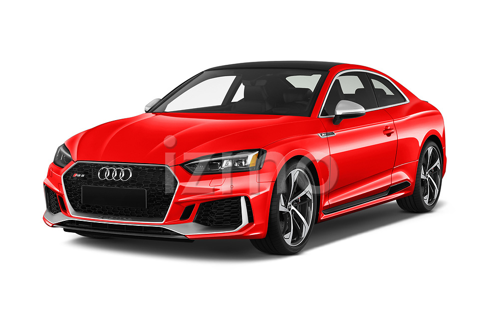 2019 Audi RS5 4WD 2 Door Coupe angular front stock photos of front three quarter view