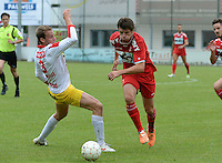FC Gullegem - KV Kortrijk : Stijn De Smet (r) <br /> foto VDB / BART VANDENBROUCKE