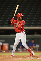 Ilvin Fernandez (2) of the ACL Reds during a game against the ACL Cubs on September 17, 2021 at Sloan Park in Mesa, Arizona. (Tracy Proffitt/Four Seam Images)