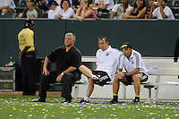 Columbus Crew Head Coach Sigi Schmid during a game against Los Angeles Galaxy in the first half at the Home Depot Center in Carson, CA on Saturday, June 21, 2008..