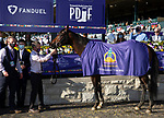 November 7, 2020 : Connections for Order of Australia, winner of the FanDuel Mile presented by PDJF on Breeders' Cup Championship Saturday at Keeneland Race Course in Lexington, Kentucky on November 7, 2020. Bill Denver/Eclipse Sportswire/Breeders' Cup/CSM