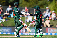 23rd March 2021; Christchurch, New Zealand;  Tamim Iqbal of Bangladesh and Mushfiqur Rahim of Bangladesh during the 2nd ODI cricket match, Black Caps versus Bangladesh, Hagley Oval, Christchurch, New Zealand.