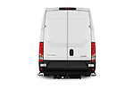 Straight rear view of 2021 Iveco Daily 12m3-L3H2 4 Door Cargo Van Rear View  stock images