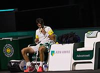 Rotterdam, The Netherlands, 5 march  2021, ABNAMRO World Tennis Tournament, Ahoy,  Quarter final: Jeremy Chardy (FRA).<br /> Photo: www.tennisimages.com/henkkoster