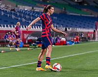 SAITAMA, JAPAN - JULY 24: Tobin Heath #7 of the USWNT dribbles during a game between New Zealand and USWNT at Saitama Stadium on July 24, 2021 in Saitama, Japan.