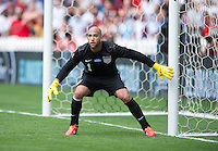 Tim Howard (1) of the USMNT looks for a shot during the game at RFK Stadium in Washington DC.  The USMNT defeated Germany, 4-3, in a friendly match.