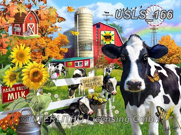 Lori, LANDSCAPES, LANDSCHAFTEN, PAISAJES, paintings+++++Dairy Farm_9_10in_72,USLS166,#l#, EVERYDAY ,puzzle,puzzles