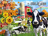 Lori, LANDSCAPES, LANDSCHAFTEN, PAISAJES, paintings+++++Dairy Farm_9_10in_72,USLS166,#l#, EVERYDAY ,puzzle,puzzles