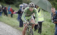 Peter Sagan (SVK/Cannondale) over the cobbles of sector 6<br /> <br /> 2014 Tour de France<br /> stage 5: Ypres/Ieper (BEL) - Arenberg Porte du Hainaut (155km)