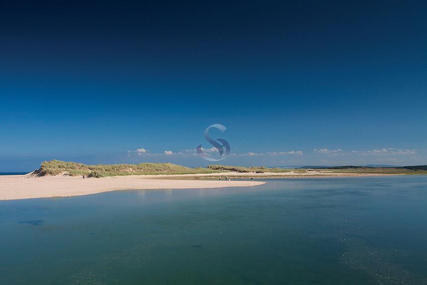 The River Lossie and Lossiemouth Beach, Seatown; Lossiemouth, Moray