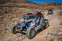 5th January 2021; Dakar Rally stage 3; #437 Brabeck-Letmathe Nicolas (aut), Bony Bruno (fra), Can-Am, Team Casteu, SSV Series - T4, action during the 3rd stage of the Dakar 2021 between Wadi Al Dawasir and Wadi Al Dawasir, in Saudi Arabia on January 5, 2021