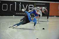 SPEEDSKATING: DORDRECHT: 05-03-2021, ISU World Short Track Speedskating Championships, Heats 500m Men, Denis Nikisha (KAZ), ©photo Martin de Jong