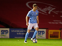 Manchester City U21's Callum Doyle<br /> <br /> Photographer Andrew Vaughan/CameraSport<br /> <br /> EFL Papa John's Trophy - Northern Section - Group E - Lincoln City v Manchester City U21 - Tuesday 17th November 2020 - LNER Stadium - Lincoln<br />  <br /> World Copyright © 2020 CameraSport. All rights reserved. 43 Linden Ave. Countesthorpe. Leicester. England. LE8 5PG - Tel: +44 (0) 116 277 4147 - admin@camerasport.com - www.camerasport.com