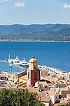 Frankreich, France, Provence-Alpes-Côte d'Azur, Saint-Tropez: View over old town   Provence-Alpes-Côte d'Azur, Saint-Tropez: Blick ueber die Altstadt