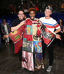 Michael Mayer, Justin Prescott and Spencer Liff during the Broadway Opening Night Performance Actors' Equity Legacy Robe honoring Justin Prescott at the Hudson Theatre on July 26, 2018 in New York City.
