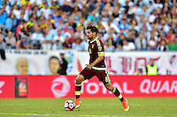 Foxborough, MA - Saturday June 18, 2016: Tomas Rincon prior to a Copa America Centenario quarterfinal match between Argentina (ARG) and Venezuela (VEN)  at Gillette Stadium.