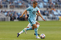 SAINT PAUL, MN - MAY 1: Osvaldo Alonso #6 of Minnesota United FC controls the ball during a game between Austin FC and Minnesota United FC at Allianz Field on May 1, 2021 in Saint Paul, Minnesota.