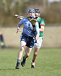 Martin Walsh of Scariff Community College in action against Dylan Delaney of St Fergal's College during their All-Ireland Colleges final at Toomevara. Photograph by John Kelly.