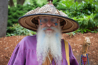 Cool bearded man, Northwest Folklife Festival 2015, Seattle Center, WA, USA.