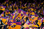 Fans of FC Barcelona wave the flags to show supports prior to the UEFA Champions League 2017-18 Round of 16 (2nd leg) match between FC Barcelona and Chelsea FC at Camp Nou on 14 March 2018 in Barcelona, Spain. Photo by Vicens Gimenez / Power Sport Images