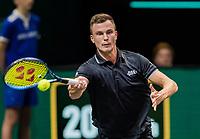 Rotterdam, The Netherlands, 5 march  2021, ABNAMRO World Tennis Tournament, Ahoy,  Quarter final:   Marton Fucsovics (HUN)<br /> Photo: www.tennisimages.com/henkkoster