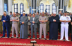 Egyptian President Abdel-Fattah el-Sisi attends a Friday prayers in Cairo, Egypt, on May 17, 2019. Photo by Egyptian President Office
